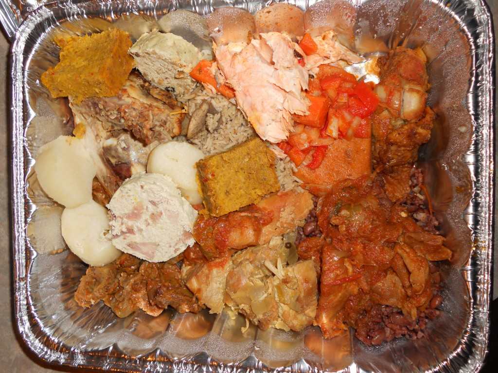 massive tray of African food... (jiggle jiggle)