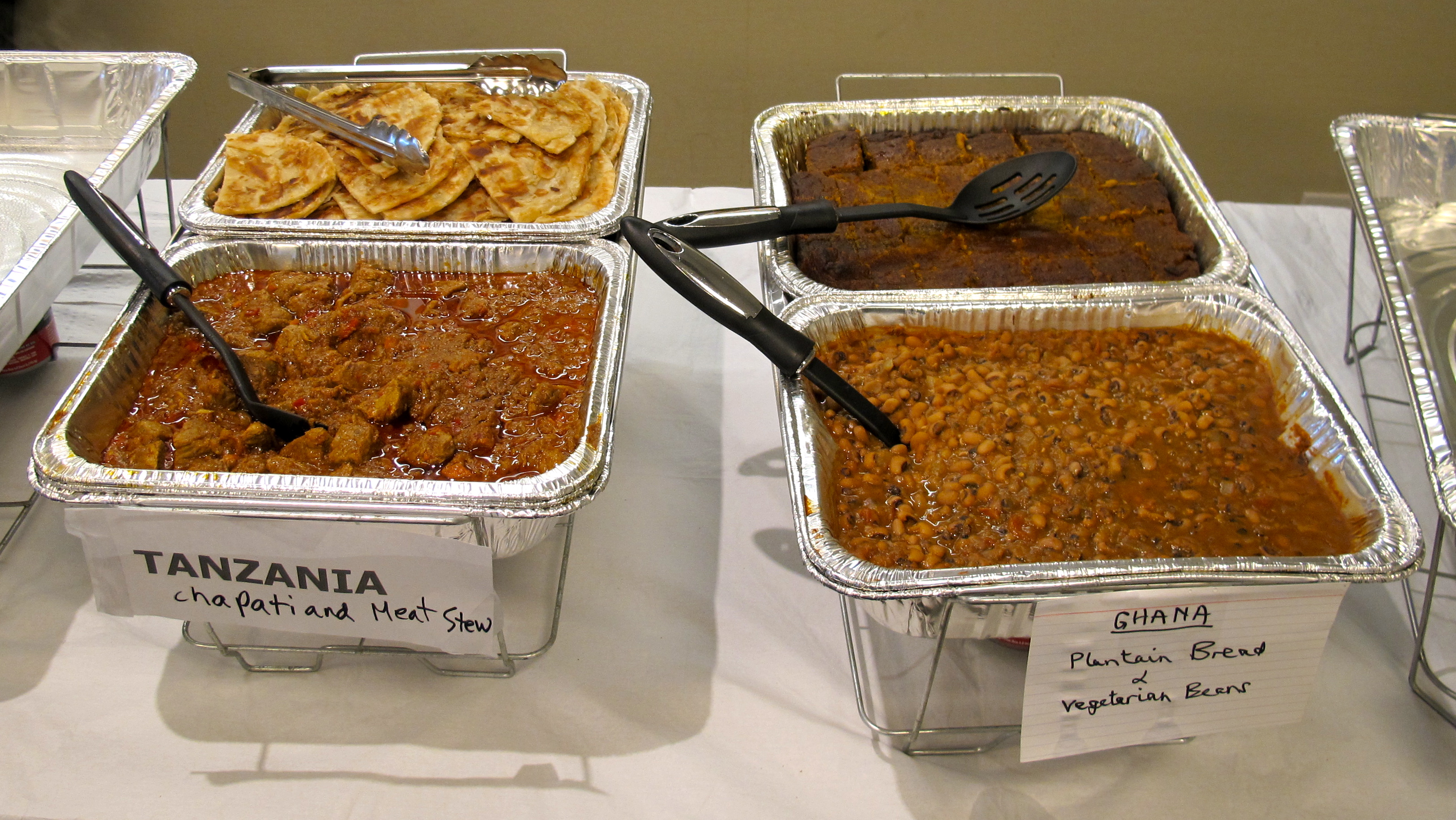 Tanzanian and ghanaian food at unama fundraiser nyc for African cuisine nyc