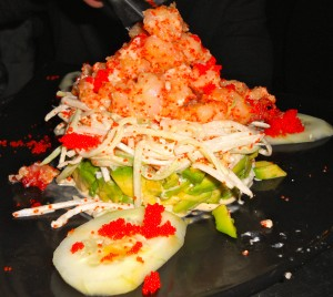 Dunarea shrimp salad at Moldava Restaurant NYC