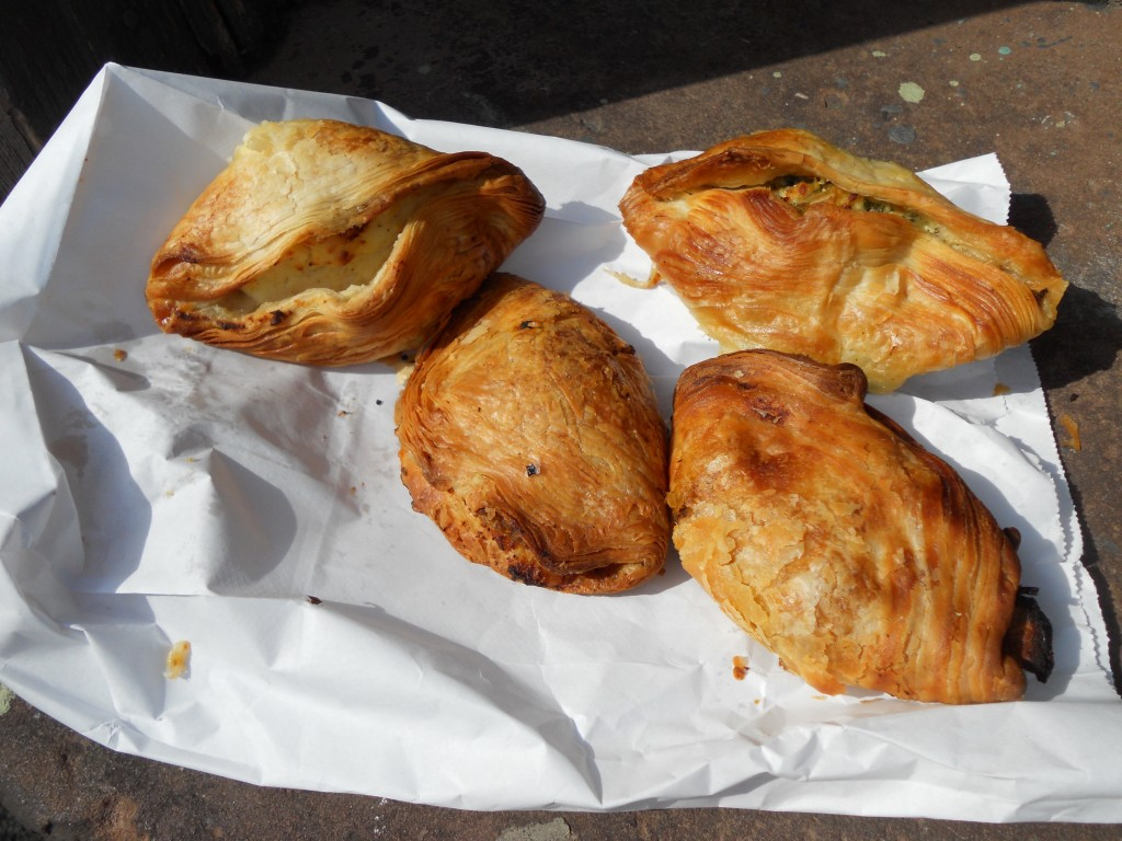 six pastizzi (two half-digested specimens not pictured)