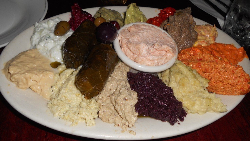 mezedes sampler at Balkanika Macedonian restaurant NYC