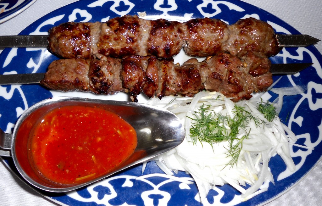 Kyrgyz kabobs at Cafe Avat Brooklyn