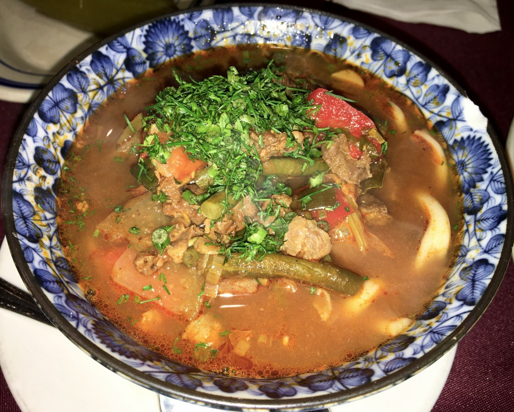 Bukharian Uzbek lagman stew from Nargis Cafe Brooklyn